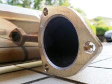 マフラー|エンジン接続側フランジ部様子の写真