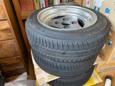 YOKOHAMA A200155/65/13 引っ張りタイヤ付きアドバンホイール4本の写真