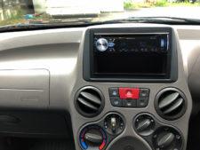 エアコン、社外CDラジオの写真