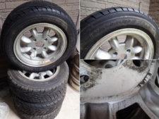 タイヤ付きホイール4本セットの写真