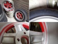 ホイール4本+タイヤ付きホイール1本:計5本セットの写真