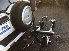 [YAKIMA] ホールドアップEVO トランクヒッチ用バイクラックの写真
