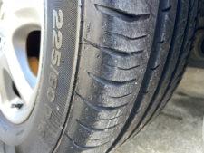 タイヤ溝の写真